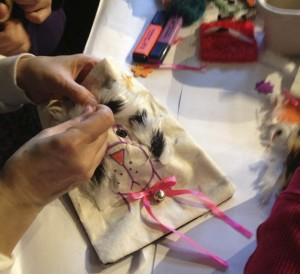 stitching dog pocket