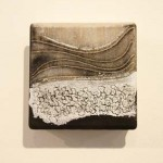 'Waterfall meets ocean' Embellished 3D digital print 100mm x 185mm x 30mm