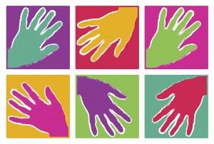 Hands logo six